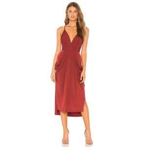 Faux Wrap Draped Dress (NWT)